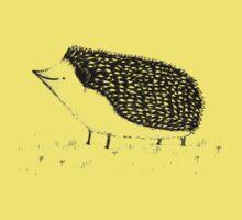 Monochrome Hedgehog Kids Tee