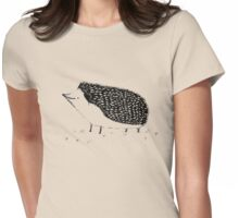 Monochrome Hedgehog Womens Fitted T-Shirt