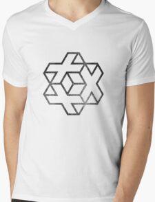 IsoCross - Black  Mens V-Neck T-Shirt