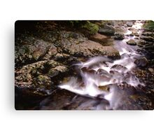 Moving water on Stinson Brook  Canvas Print