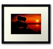 """The Shrouded Sunrise"" Framed Print"