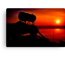 """""""The Shrouded Sunrise"""" Canvas Print"""