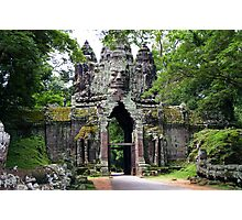 Angkor Thom gate - Cambodia Photographic Print