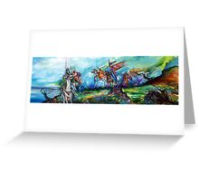 RIDERS IN THE STORM KNIGHTS TEMPLAR Greeting Card