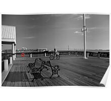 Early Morning on the Pier Poster