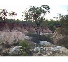 Pink Cliffs At Heathcote, Victoria Photographic Print