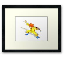 Ninja Boy Framed Print