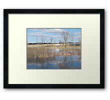 River Floods The Farmlands Framed Print