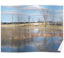 River Floods The Farmlands Poster