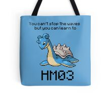 Lapras #131 You can't stop the waves but you can learn to SURF!  Tote Bag