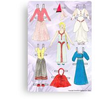 Paper Doll - Belle Canvas Print