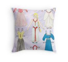 Paper Doll - Belle Throw Pillow