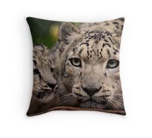 Snow Leopards Throw Pillow