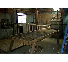 Hope Cottage Museum Shearing Shed Photographic Print