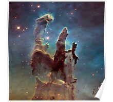 New View of the Pillars of Creation — Hubble Space Telescope Poster