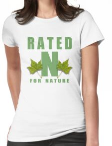 rated n for nature Womens Fitted T-Shirt