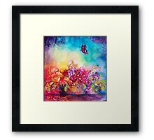 THUMBELINA,FLOWER BASKET AND BUTTERFLY Framed Print
