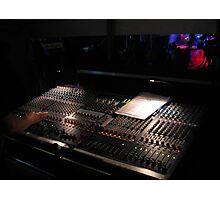 Live Gig Mixing Desk Photographic Print