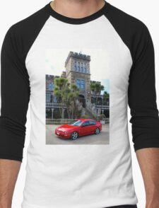 2000 AU XR8: NZ Falcon & Fairlane Car Club Nationals 2015 Men's Baseball ¾ T-Shirt