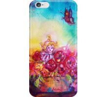 THUMBELINA,FLOWER BASKET AND BUTTERFLY iPhone Case/Skin