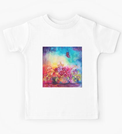 THUMBELINA,FLOWER BASKET AND BUTTERFLY Kids Tee