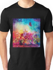 THUMBELINA,FLOWER BASKET AND BUTTERFLY Unisex T-Shirt