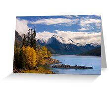 Medicine Lake, in Fall, Jasper National Park, Alberta, Canada Greeting Card