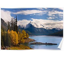 Medicine Lake, in Fall, Jasper National Park, Alberta, Canada Poster