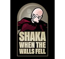 Shaka, When the Walls Fell Photographic Print