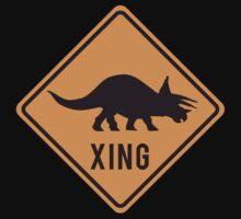 Prehistoric Xing - Triceratops Baby Tee
