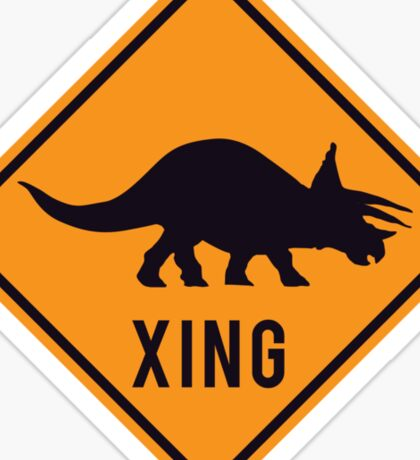 Prehistoric Xing - Triceratops Sticker