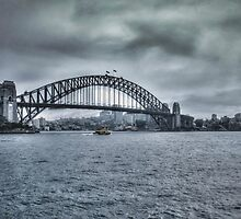 Approaching Storm on Sydney Harbour, NSW, Australia by Josette Halls