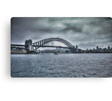 Approaching Storm on Sydney Harbour, NSW, Australia Canvas Print