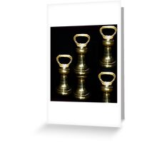 Old Brass Weights Greeting Card