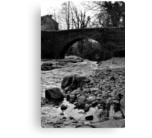 The Bridge at West Burton Falls Canvas Print