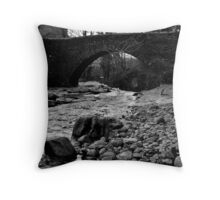 The Bridge at West Burton Falls Throw Pillow