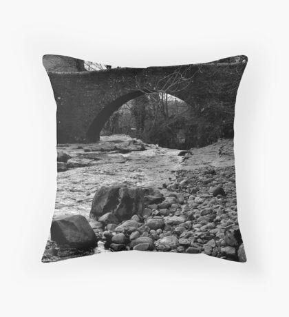 The Bridge at West Burton Falls Throw Pillow