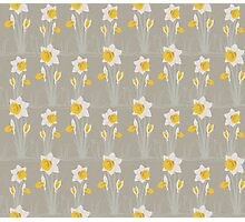daffodils pattern Photographic Print