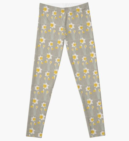 daffodils pattern Leggings