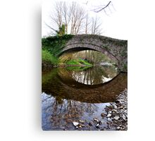 The Pack Horse Bridge at West Burton Canvas Print