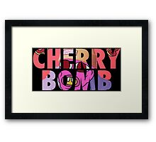 'Cherry Bomb' Alternate Album Cover Framed Print