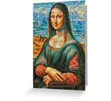 Colorful Mona lisa Greeting Card