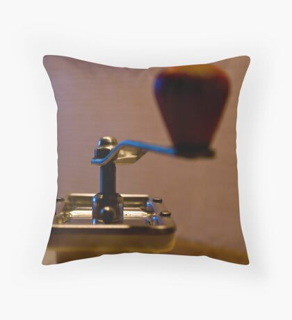Vintage Coffee Grinder Throw Pillow