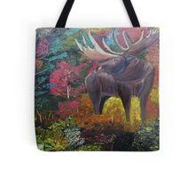 Bull Moose in Fall Tote Bag