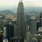 Looking over Kuala Lumpur from KL Tower by Sandra  Sengstock-Miller