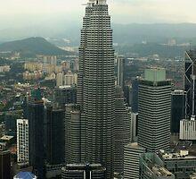 Looking over Kuala Lumpur from KL Tower by sandysartstudio