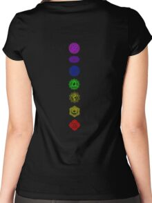 7 Chakra spiritual meditation Women's Fitted Scoop T-Shirt