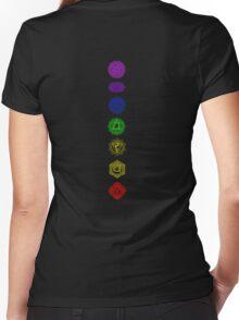 7 Chakra spiritual meditation Women's Fitted V-Neck T-Shirt