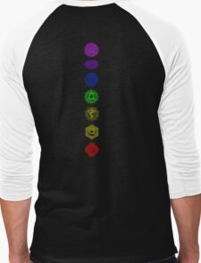 7 Chakra spiritual meditation Men's Baseball ¾ T-Shirt