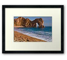 Durdle Dor - The Jurassic Coast World Heritage Site Series  Framed Print